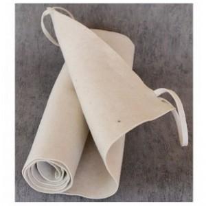 Коврик-лежак из белого войлока,размер:0,5*1,8